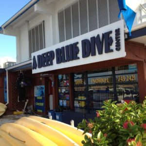 a deep blue dive center, marathon key